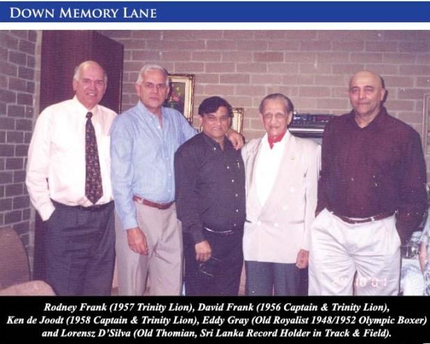Rodney Frank, David Frank, Ken de Joodt, Eddy Gray and Lorensz D'Silva