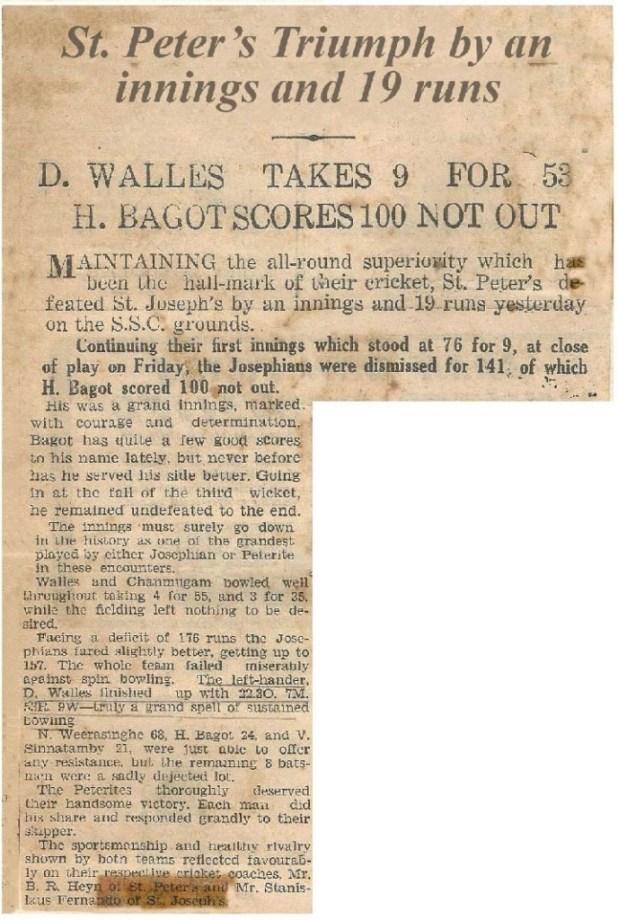 1947 Joe Pete post match article