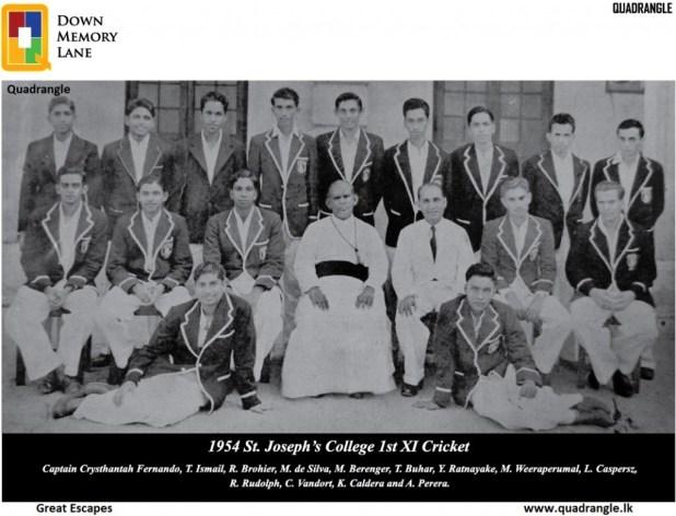St. Joseph's College 1st XI 1954