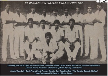 St. Benedict's College 1st XI Cricket - 1983