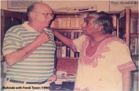 Mahinda with Frank Tyson
