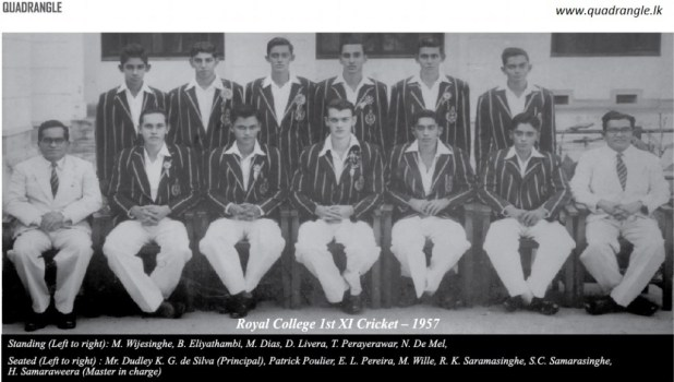 Royal College 1957 1st XI Cricket team