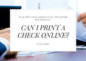 Can i print a Check online?