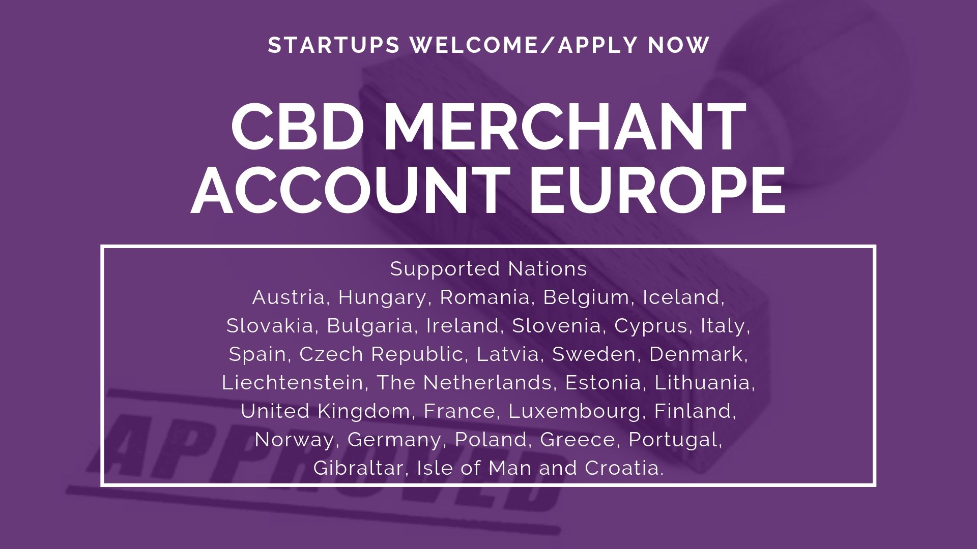 CBD Merchant Account Europe