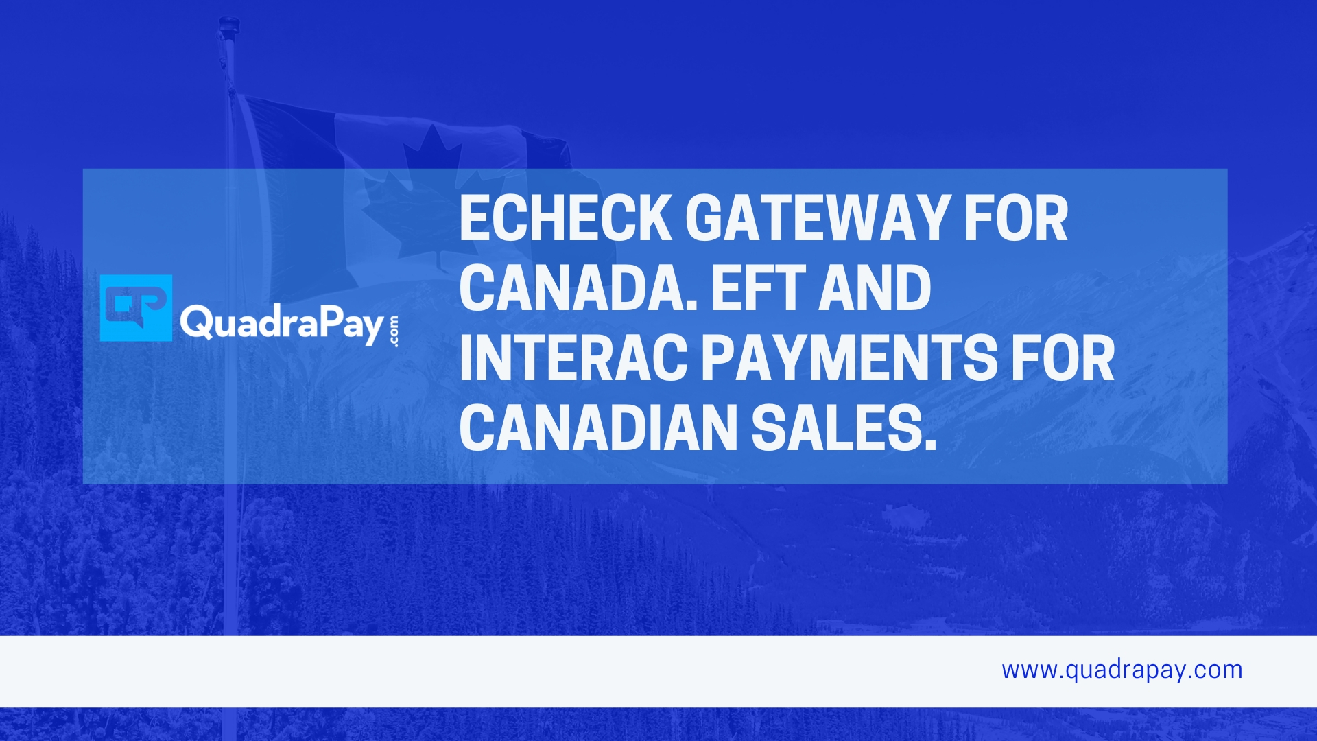 Echeck Gateway For Canada From Quadrapay
