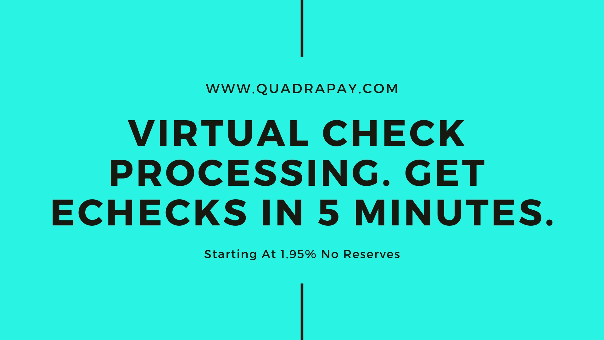 Virtual Check Processing By Quadrapay
