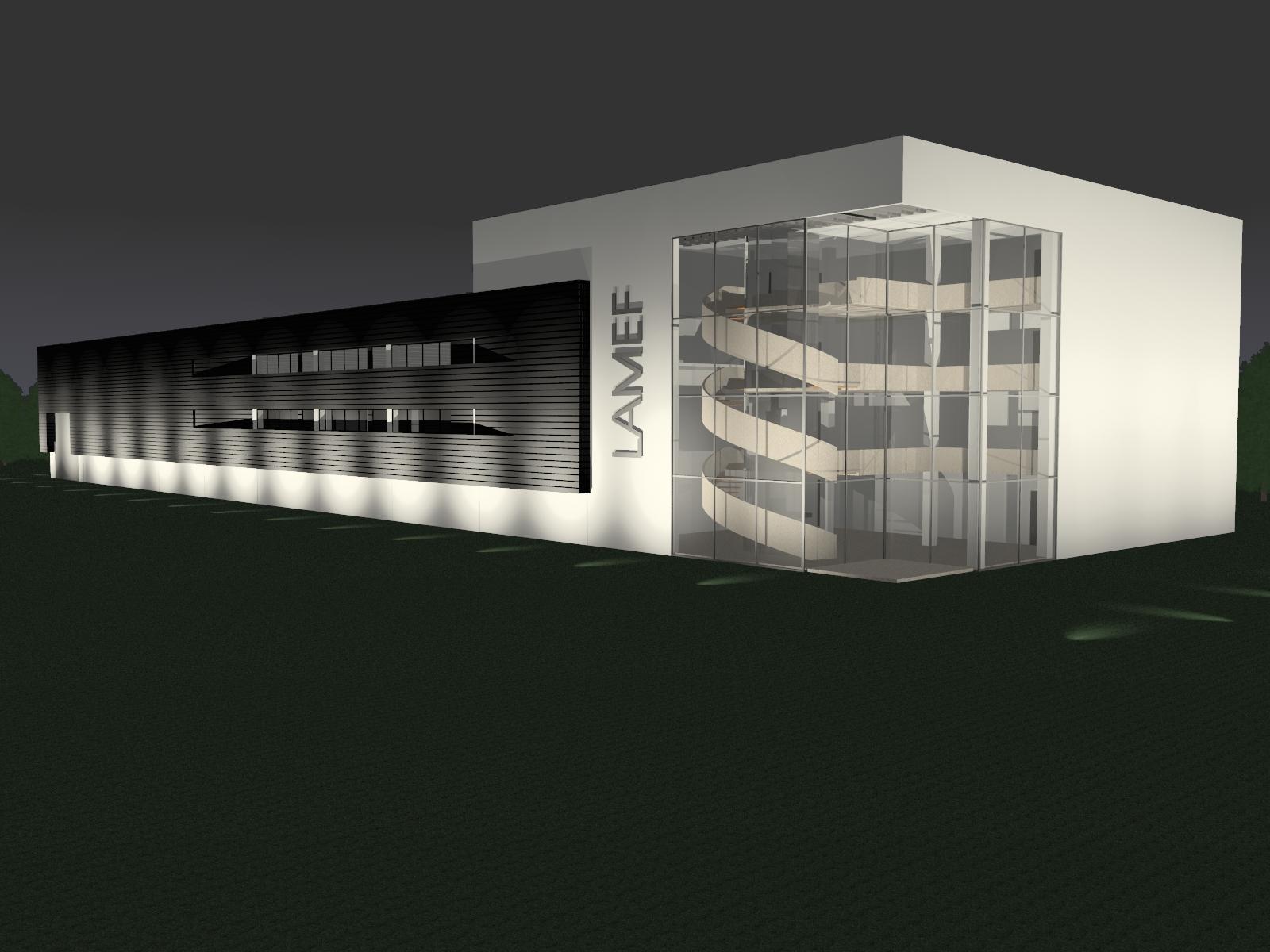 projeto do prédio do LAMEF