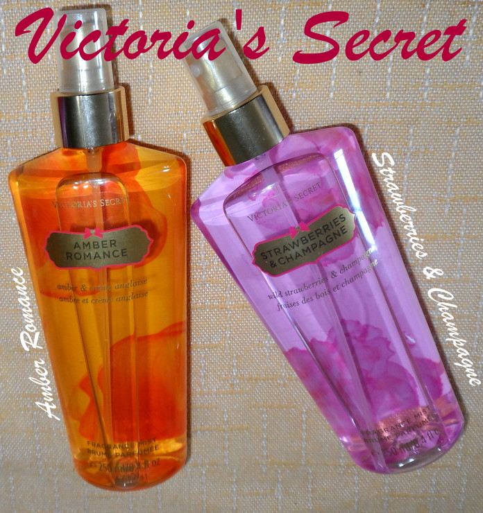Amber Romance e Strawberries & Champagne de Victoria`s Secret