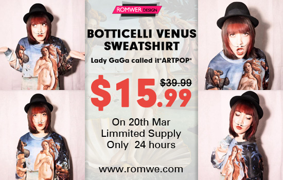 Botticelli's Venus Sweatshirt