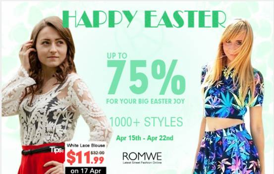 Happy Easter day - Romwe