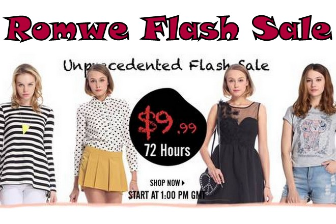 ROMWE Hottest & Biggest flash sale