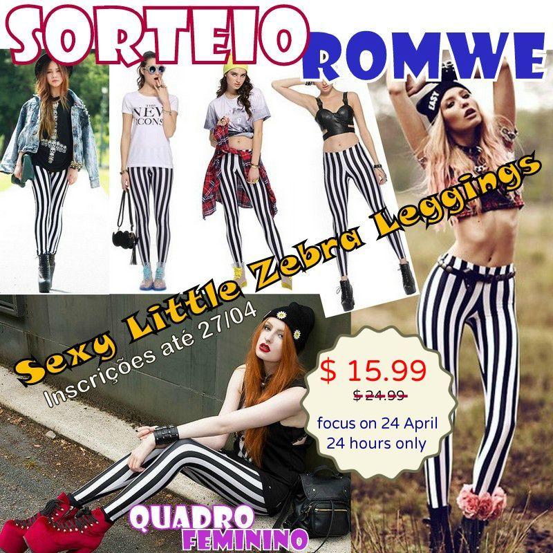 Sorteio Romwe Calça Zebra Listrada-001