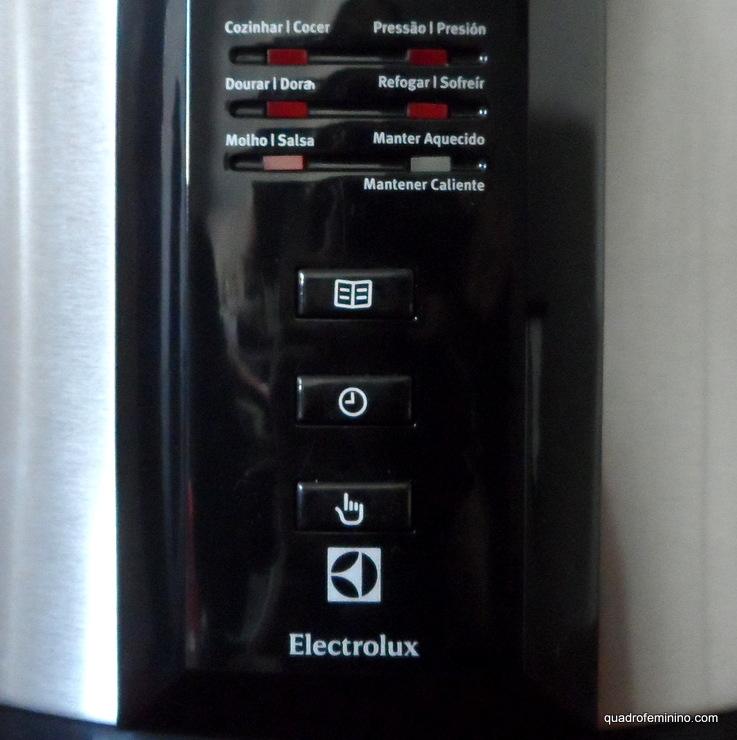 Panela de Pressão Elétrica Chef Electrolux - display