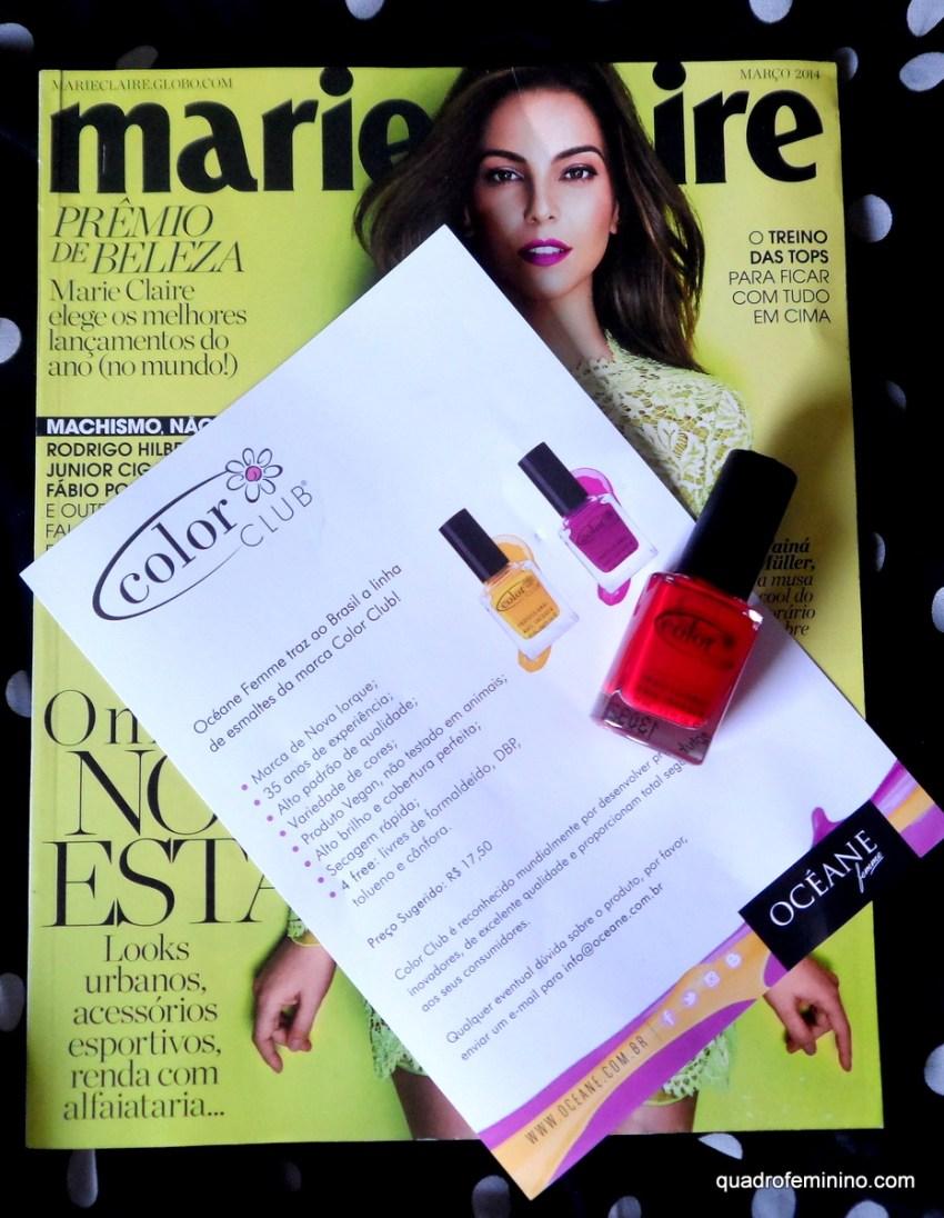 Revista Marie Claire, esmalte Color Club, Océane Femme