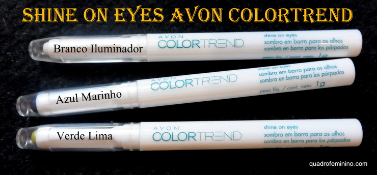 Shine on eyes - Sombra em barra para olhos Avon ColorTrend