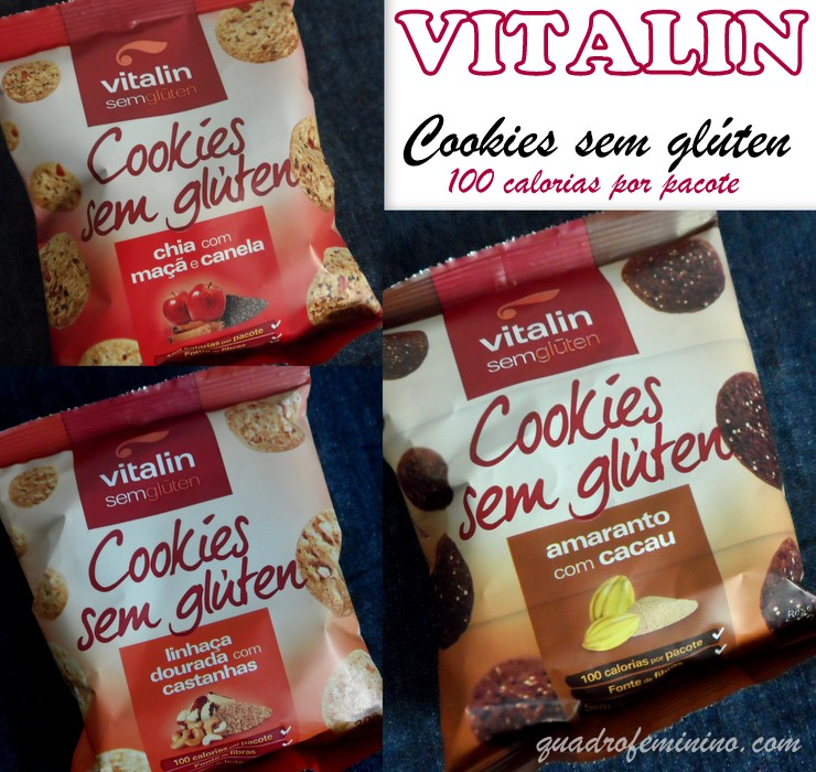 Vitalin - Cookies sem Glúten Chia, Linhaça e Amaranto