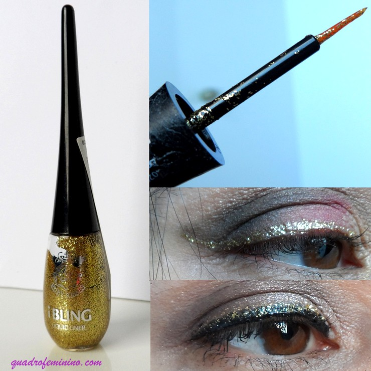 Delineador iBling Liquid Eyeliner Ruby Kisses - Glitz N' Gold