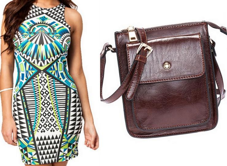 Romwe - Dress and Bag