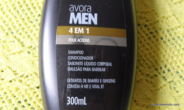 Avora Men Shampoo 4 em 1 (2)