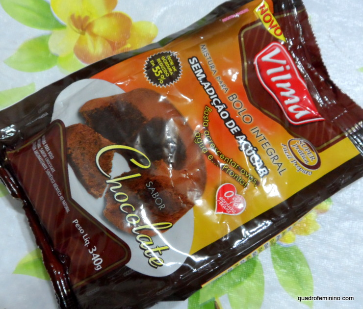 Integral de Chocolate Zero Açúcar - Vilma Alimentos