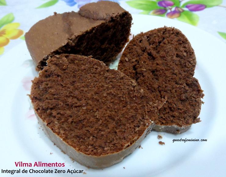 Integral de Chocolate Zero Açúcar  Vilma Alimentos