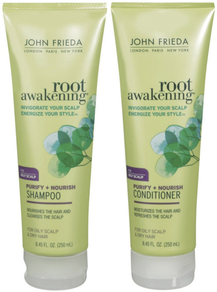 Shampoo e Condicionador Root Awakening Purify + Nourish John Frieda