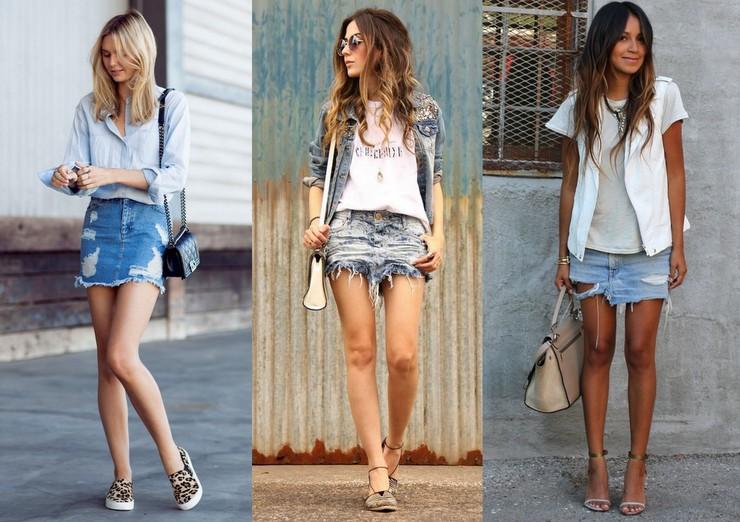 Como usar saia jeans - curtas