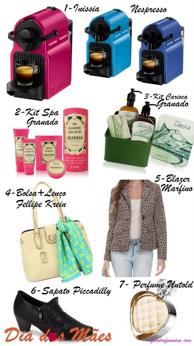 Sugestões de presentes para as mães