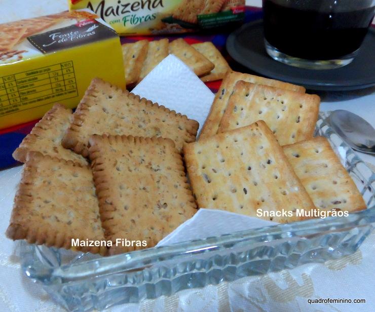 Maizena Fibras e Snacks Multigrãos - Bauducco