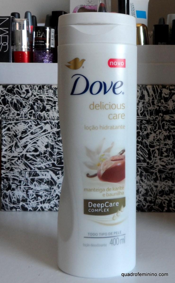 Loção Hidratante Dove Delicious Care - Manteiga de Karité e Baunilha