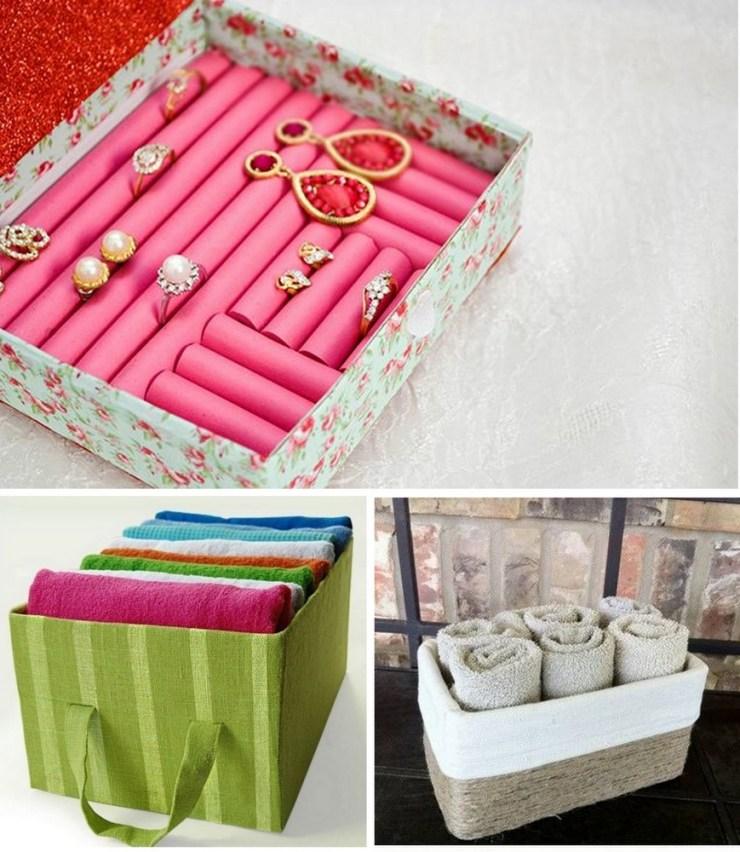 porta objetos com caixas