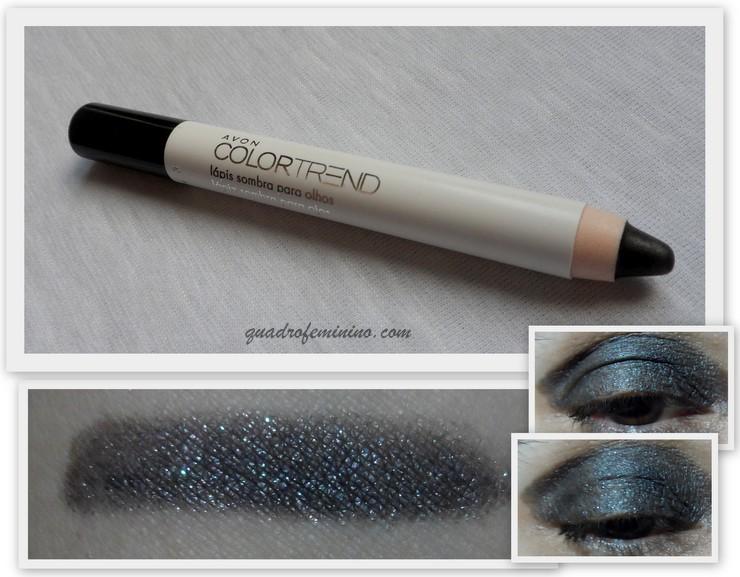 Lápis sombra - Avon Color Trend - preto