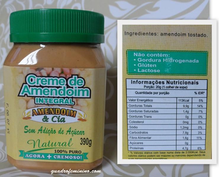 Creme de Amendoim Integral - Amendoim & Cia