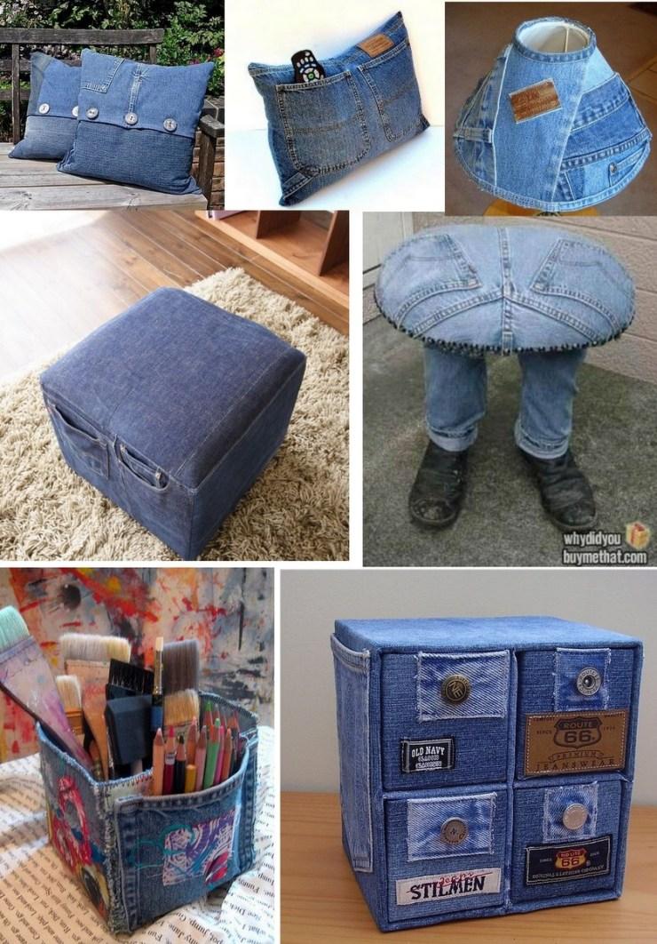 Jeans, decoração e organização