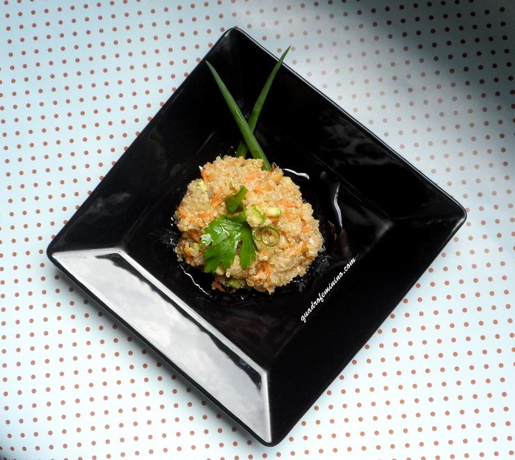 Risoto de quinoa com abobrinha