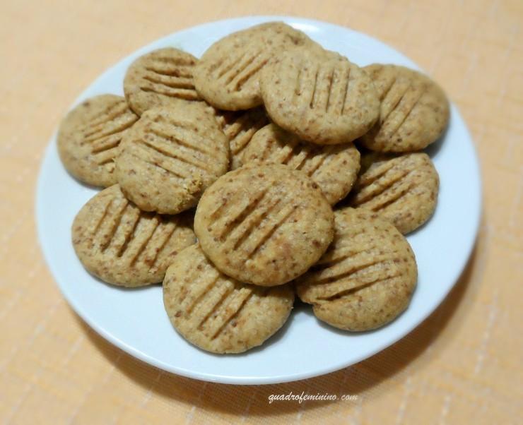 Cookies de aveia com pasta de amendoim