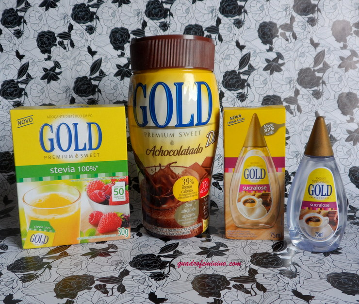 Gold Adoçantes e Achocolatado