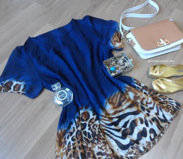 Vestido azul com leopard print da SammyDress 1