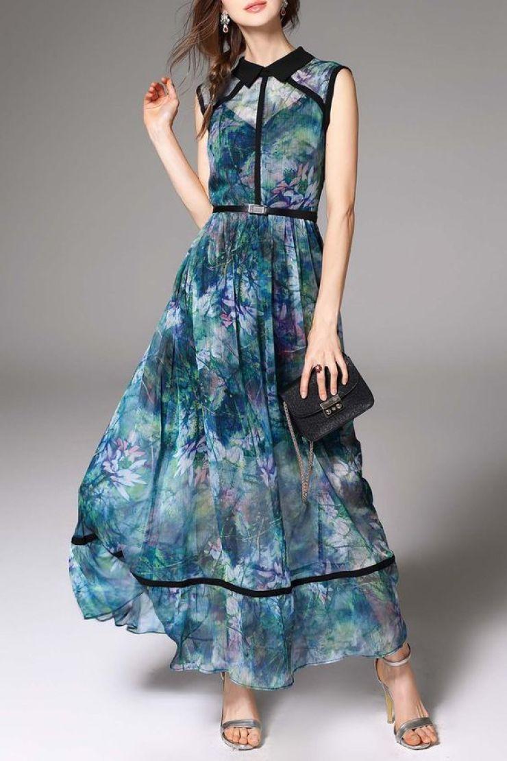 maxi vestido floral Dezzal