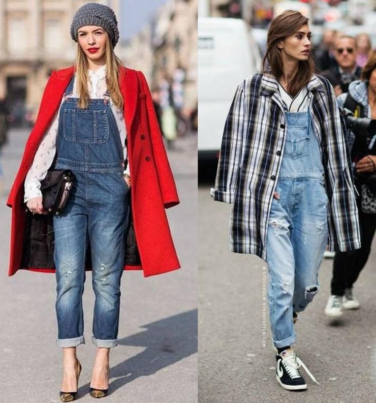 macacão jeans - Look de inverno
