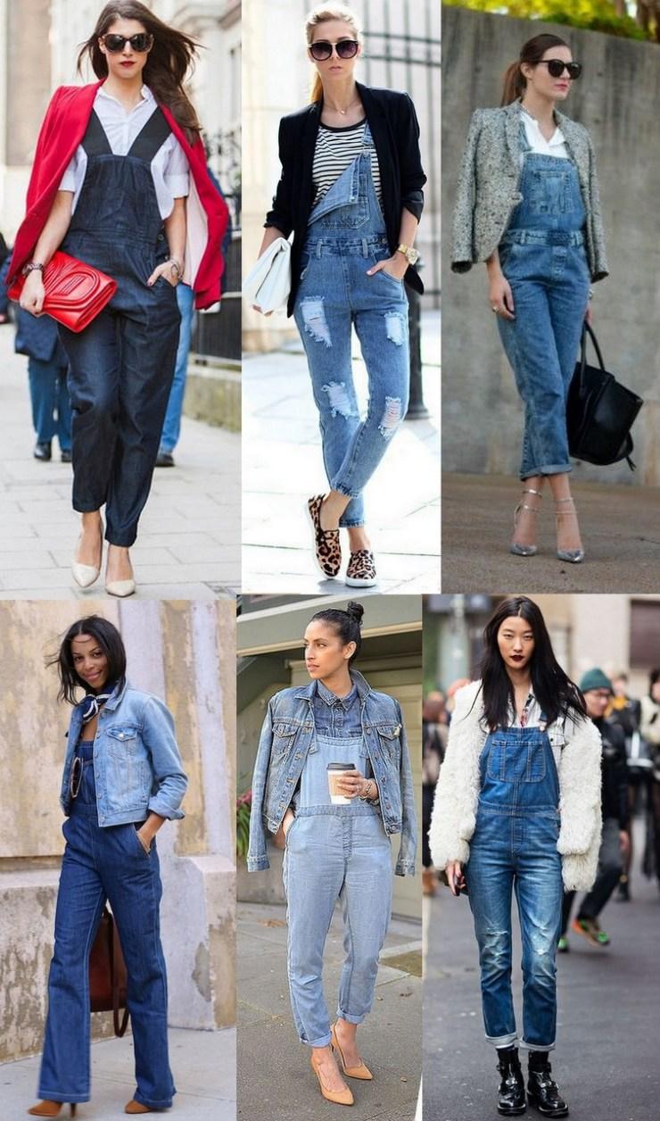 macacão jeans Looks de inverno
