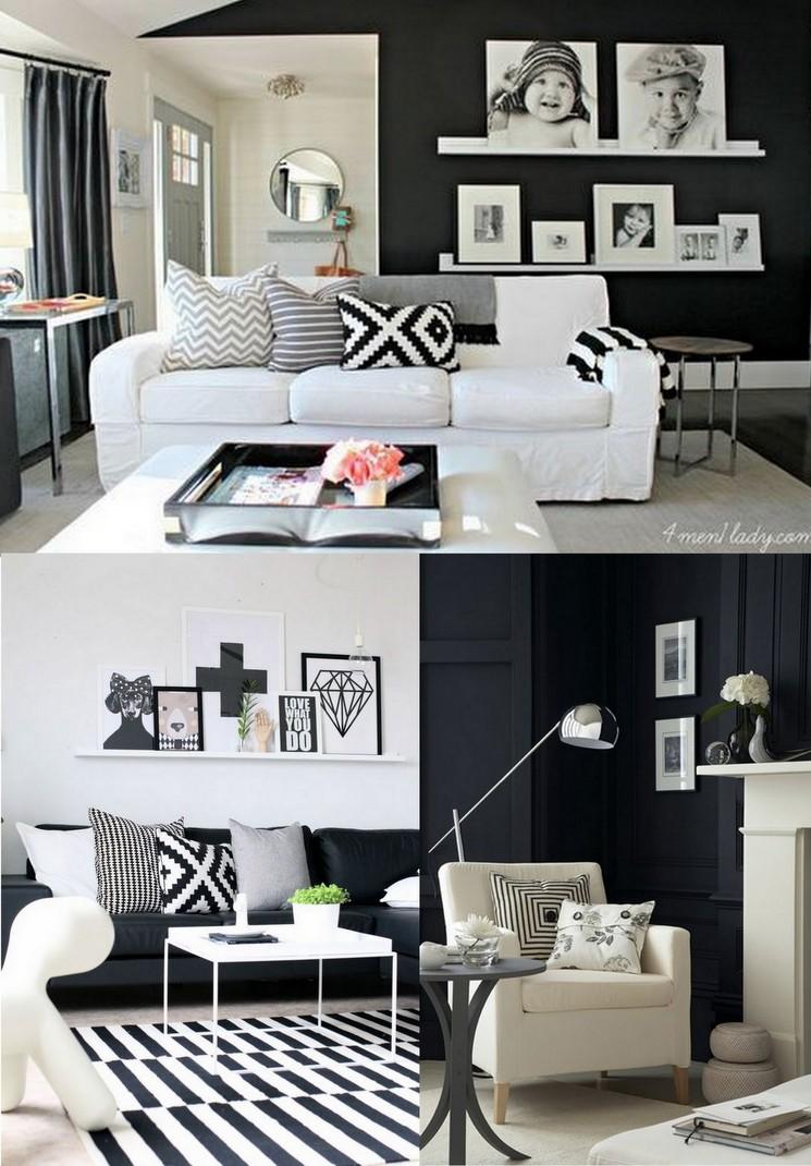 Decoração Preto e Branco Salas