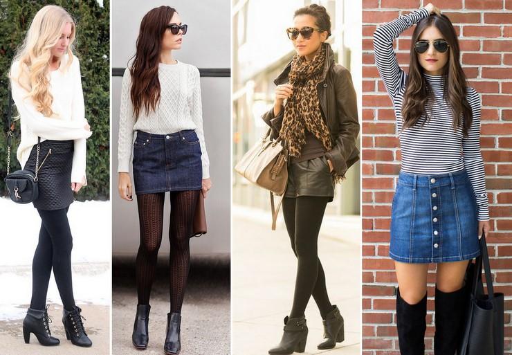 shorts - mini saias -couro-jeans no inverno