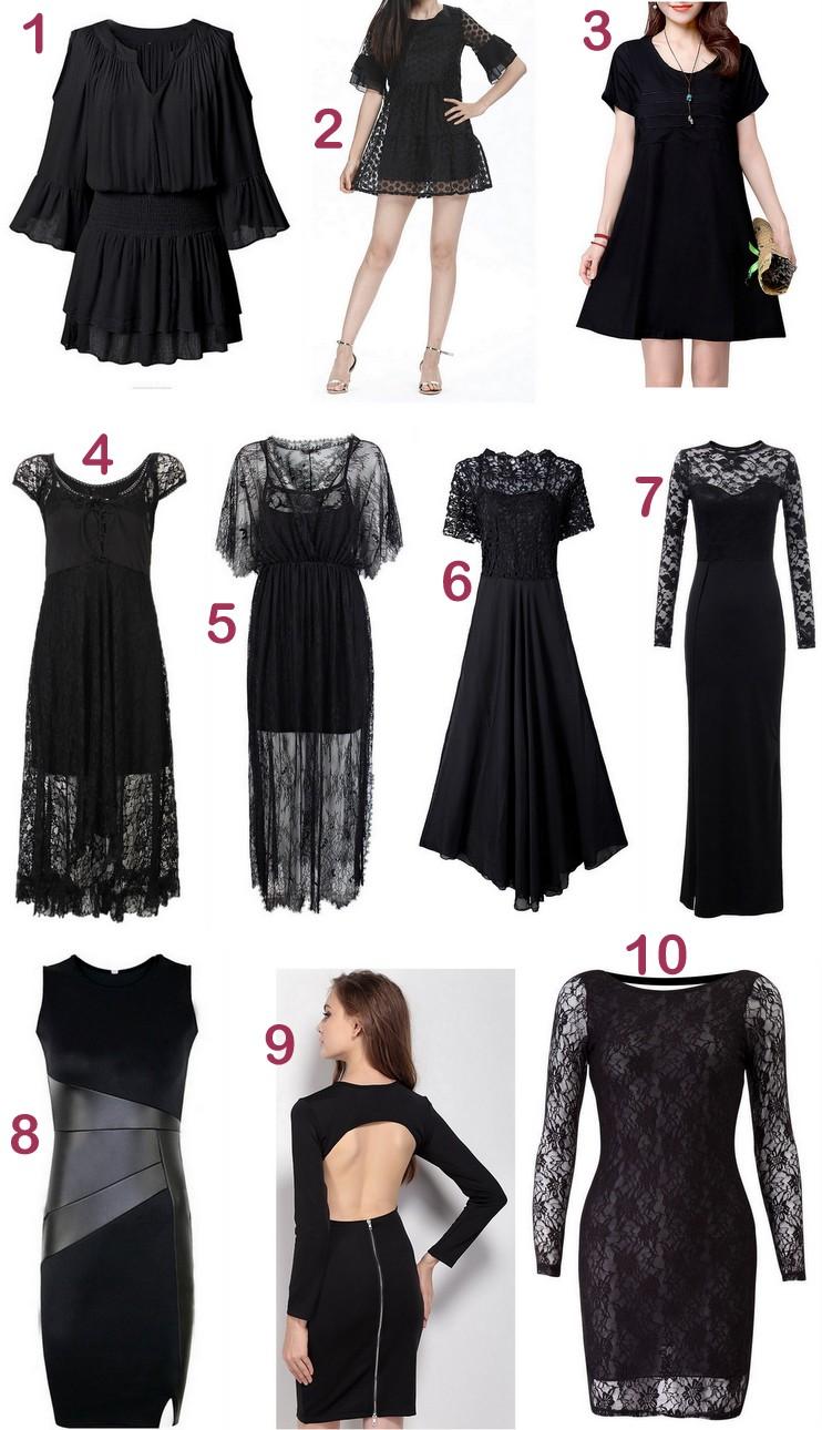 Newchic - Vestidos pretos