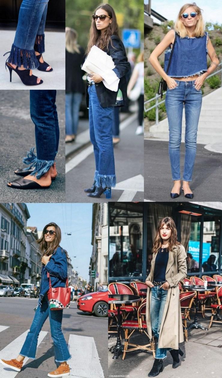 jeans desfiado - calças