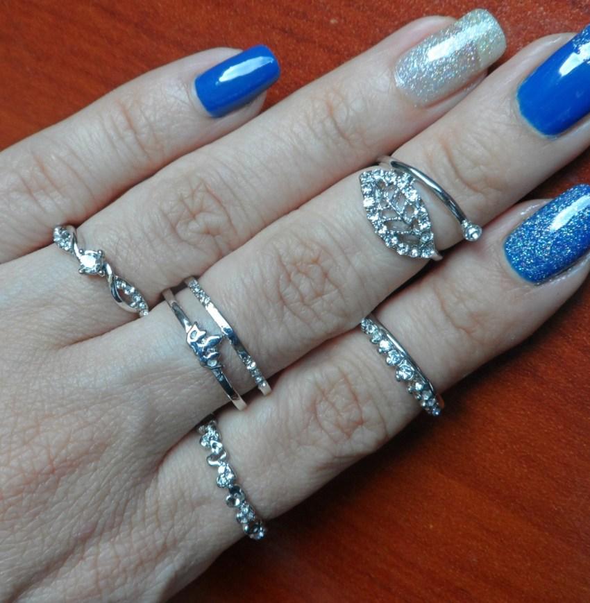 kit de anéis românticos