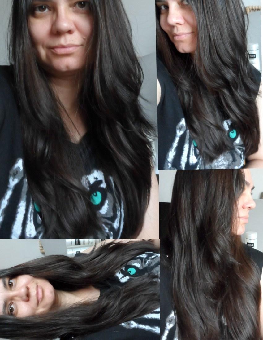 cabelos brilhosos