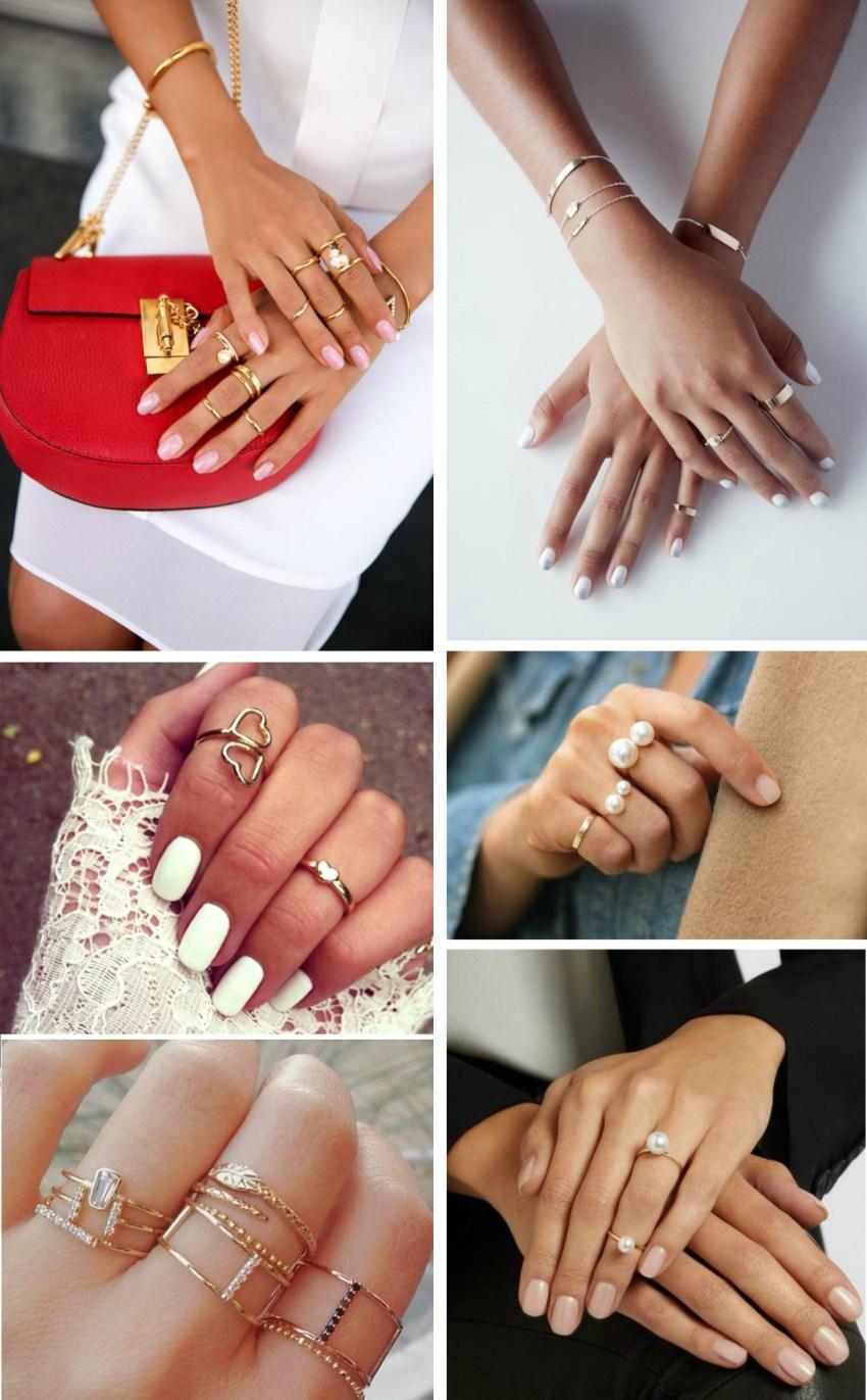 acessórios delicados anéis
