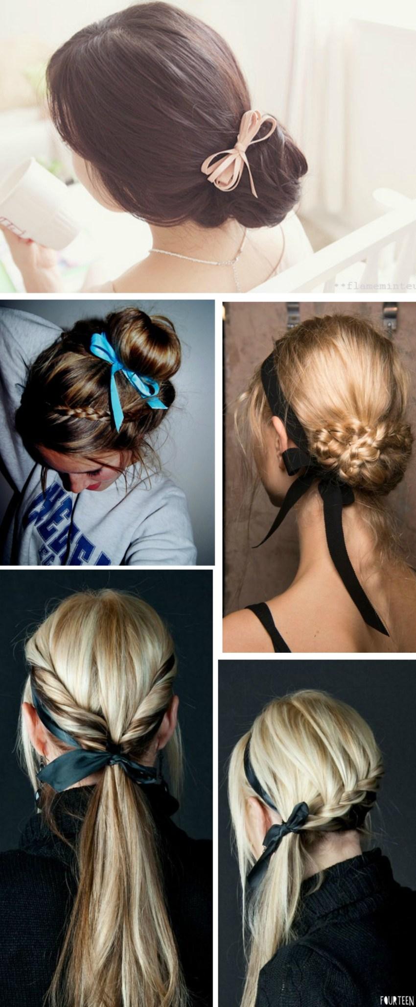 Penteados com fitas