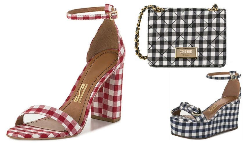 sapatos em xadrez vichy